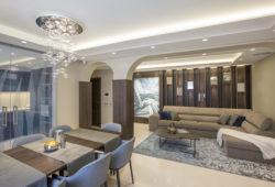 Elegáns családi ház világítása